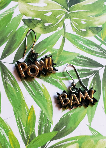 """Pow"" ""Bam"" Earrings"