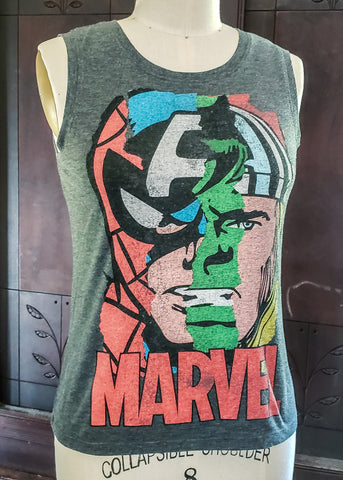 Thrifted Marvel Tank Top (Spider-Man, Captain America, Hulk, Thor)