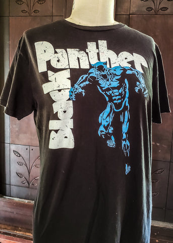 Thrifted Black Panter T-shirt