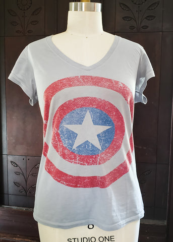 Thrifted Captain America fitted T-shirt