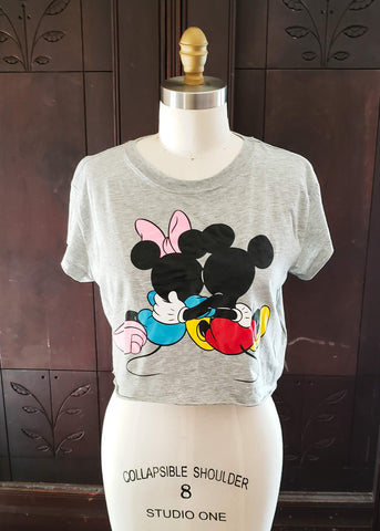 Mickey + Minnie Crop Top (XS)
