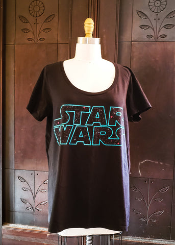Star Wars Title Scoop Neck T-shirt (2XL)
