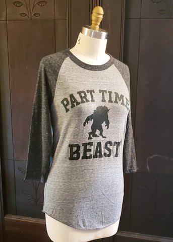 Part Time Beast Raglan (Small)