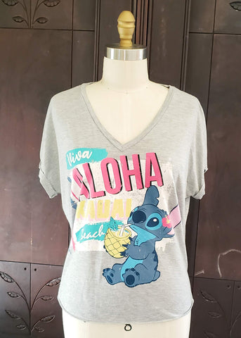 """Viva Aloha"" Slouchy Stitch T-shirt (Medium)"