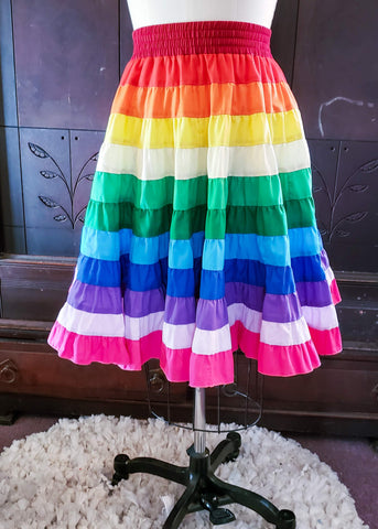 Rainbow Circle Skirt (Small-Medium)