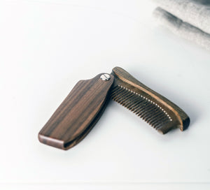Deluxe Anti-static Sandalwood Beard + Hair Comb