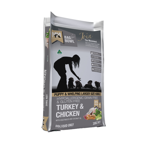 Meals for Mutts Turkey & Chicken Puppy & Whelping Grain Free