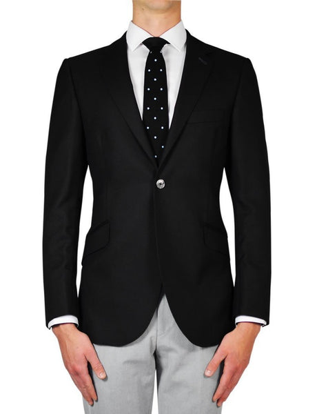 Black Panama Jacket - MARK STEPHEN