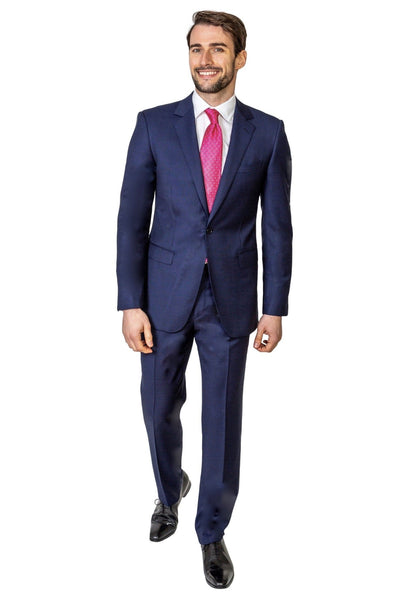Blue Birds Eye Suit - MARK STEPHEN