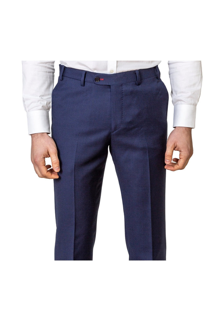 Blue Birds Eye Trousers - MARK STEPHEN