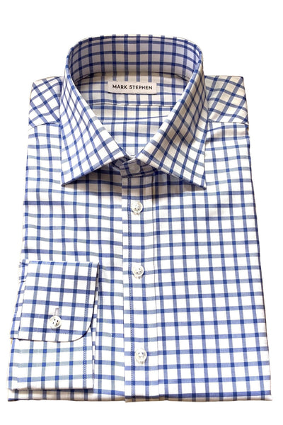 Blue Check Shirt - MARK STEPHEN