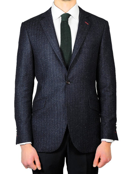 Blue Tweed Jacket - MARK STEPHEN