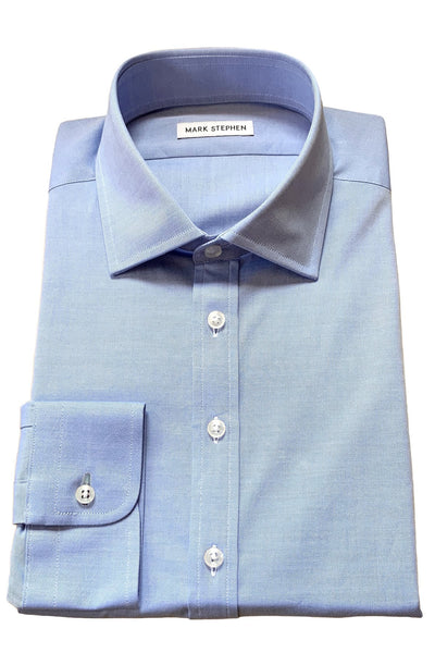 Blue Twill Shirt - MARK STEPHEN