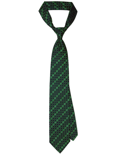 Green Geometric Plain Tie - MARK STEPHEN