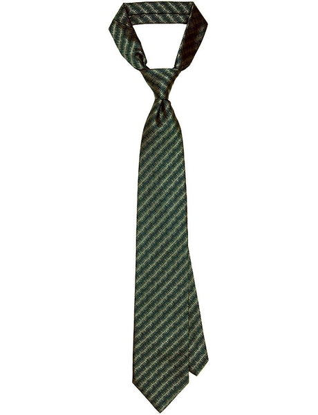 Green & Grey Radiowaves Tie - MARK STEPHEN