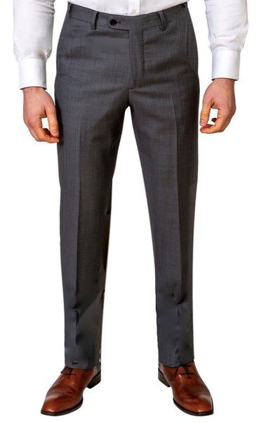 Grey Birds Eye Trousers - MARK STEPHEN