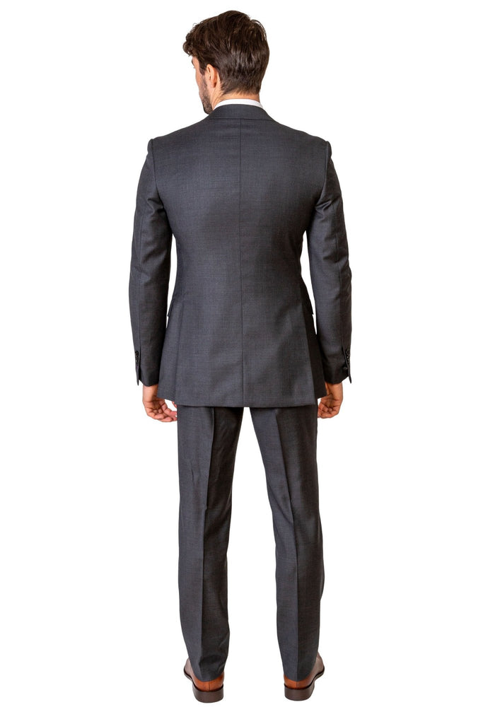 Grey Plain Suit - MARK STEPHEN