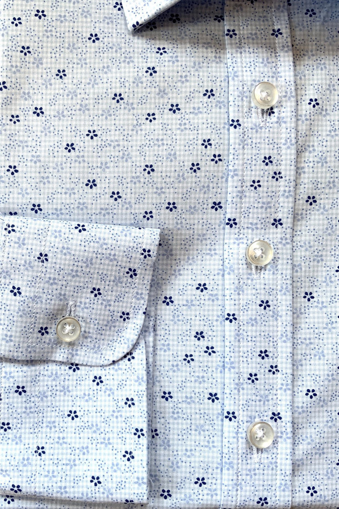 Light Blue Flower Shirt - MARK STEPHEN