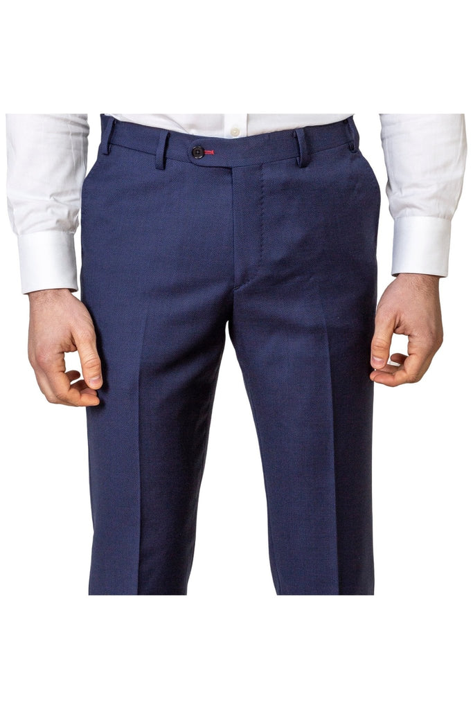 Navy Blue Trousers - MARK STEPHEN