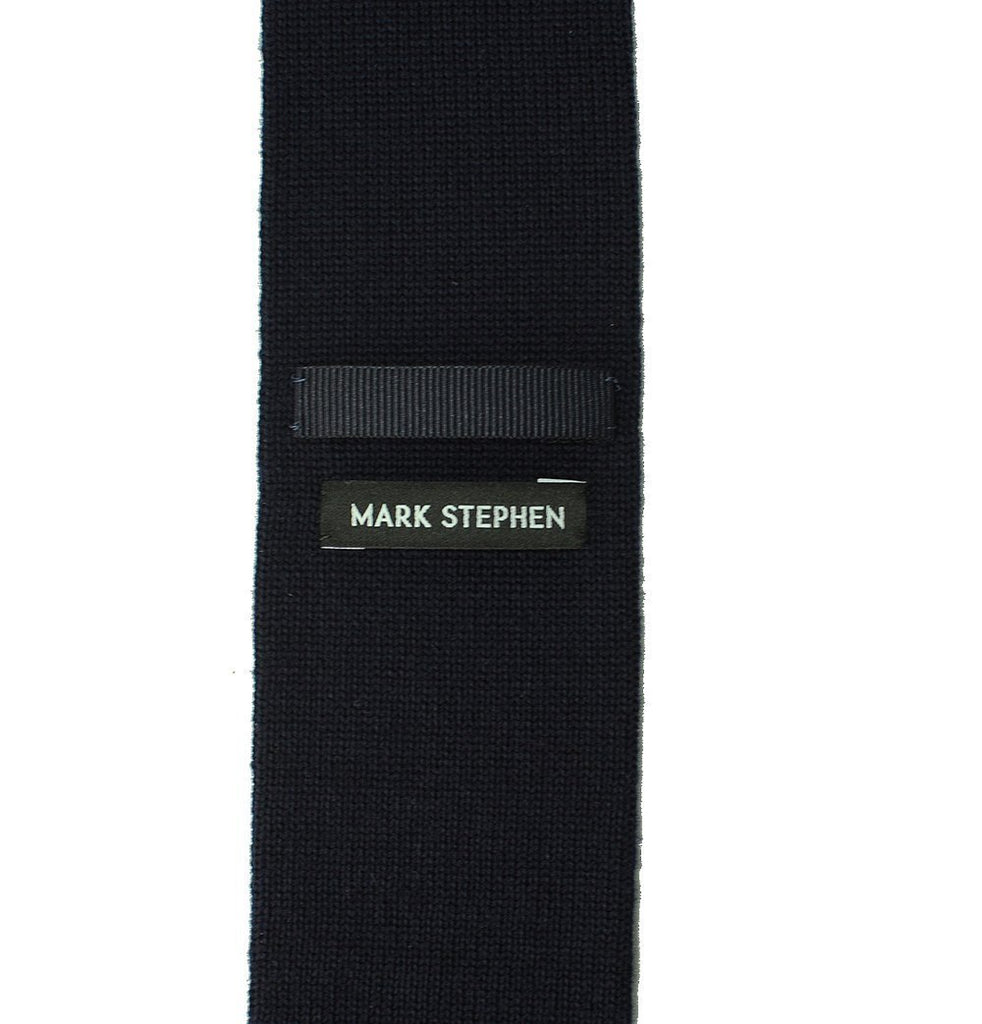 Navy Knitted Tie - MARK STEPHEN