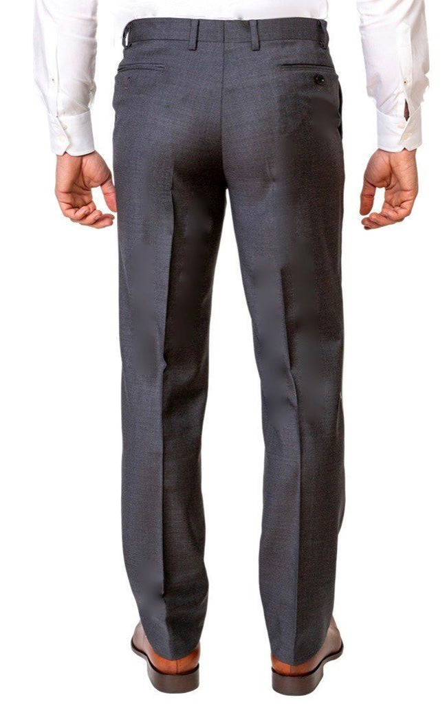 Plain Grey Trousers - MARK STEPHEN