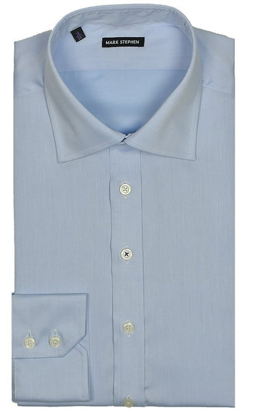 Regular Fit Blue Heavy Twill Shirt - MARK STEPHEN
