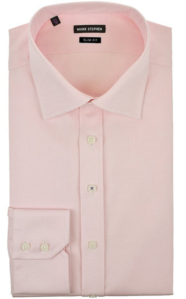 Slim Fit Pink Pinpoint Shirt - MARK STEPHEN