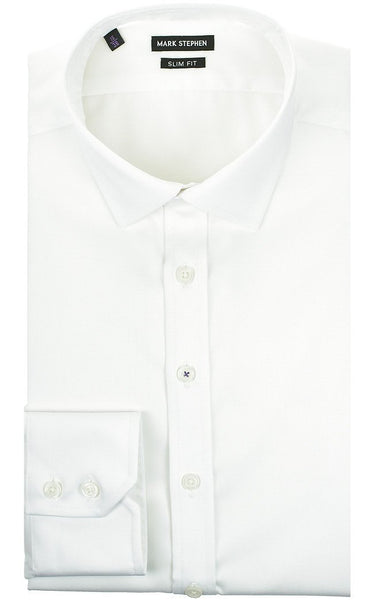 Slim Fit Twill Shirt - MARK STEPHEN