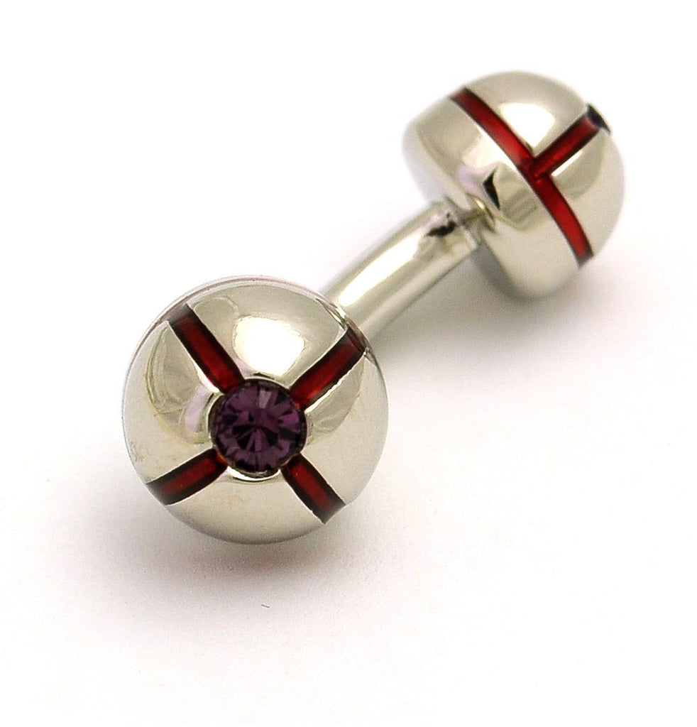 Swarovski Bar Cufflinks - MARK STEPHEN