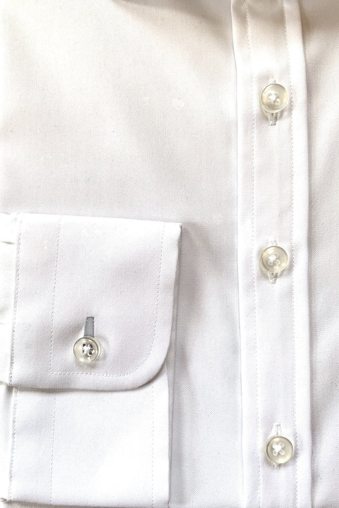 White Pinpoint Shirt - MARK STEPHEN
