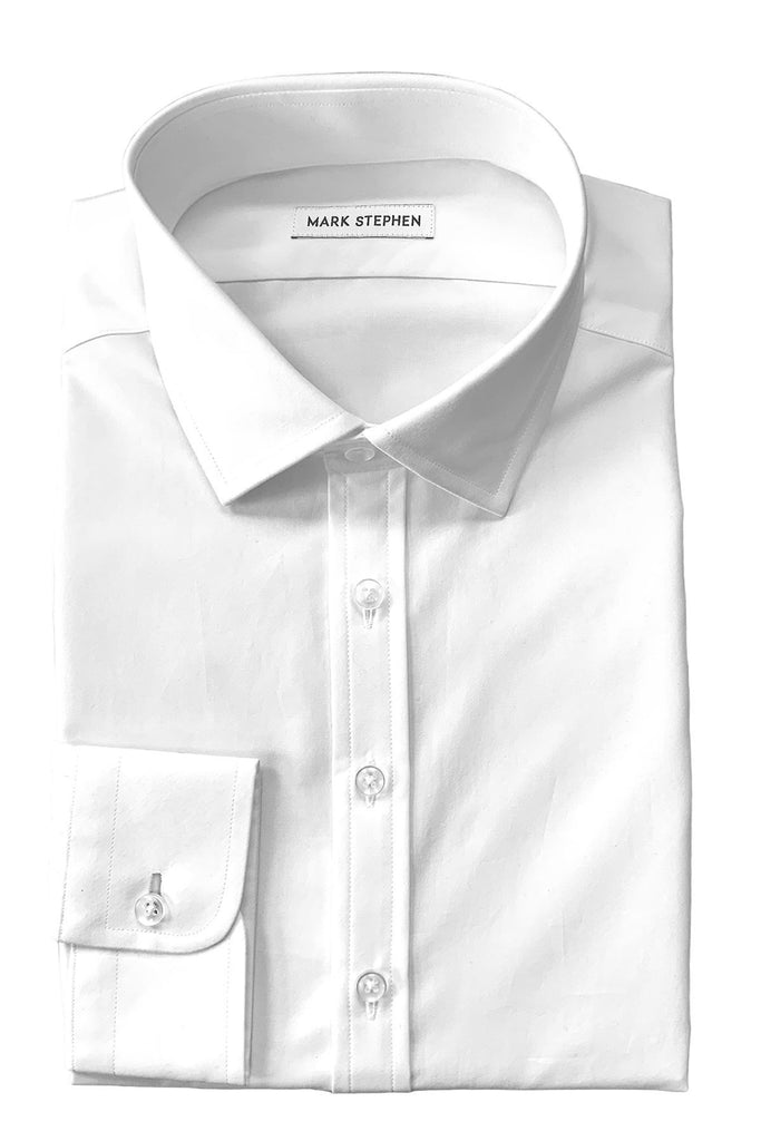 White Poplin Shirt - MARK STEPHEN