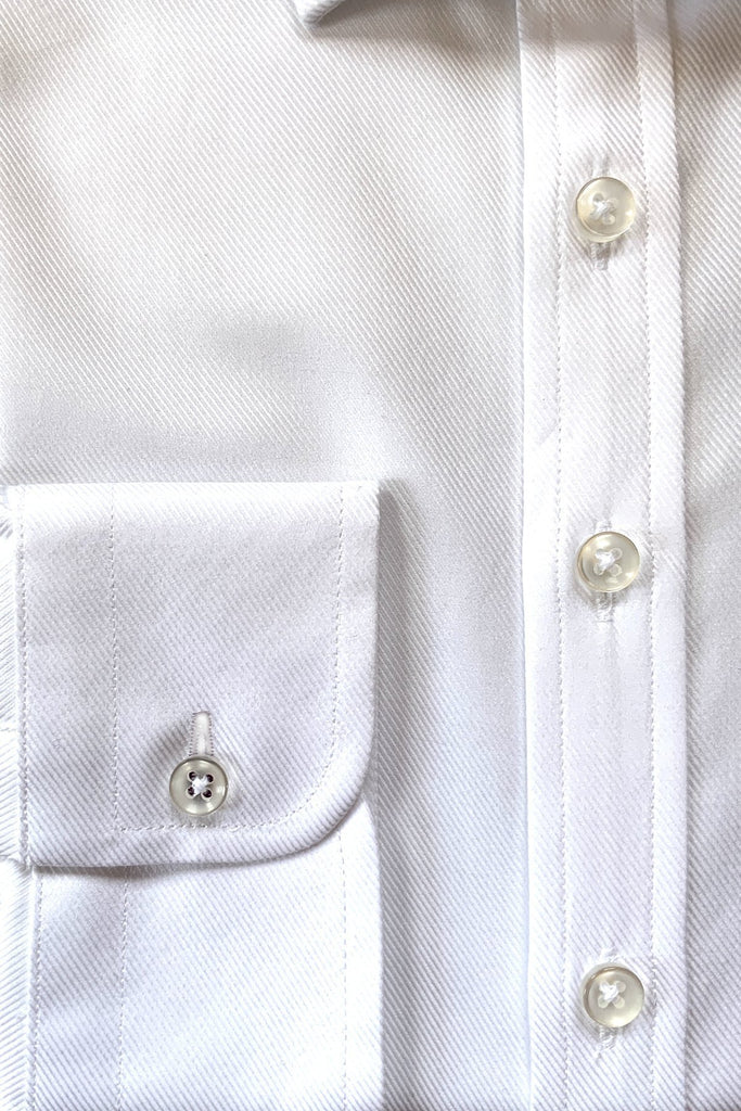 White Twill Shirt - MARK STEPHEN