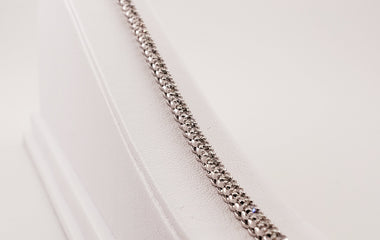 White Gold Diamond Tennis Bracelet - 72521