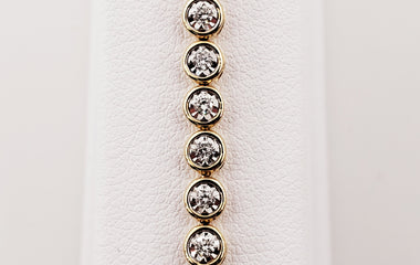 Yellow Gold Diamond Tennis Bracelet - 71167