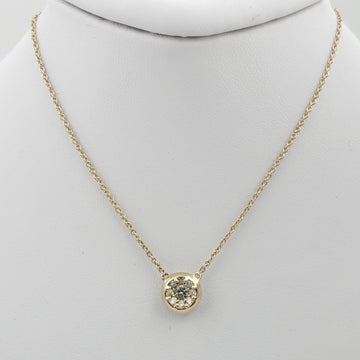 14kt Yellow Gold Necklace with Round Diamonds Pendent - 71597