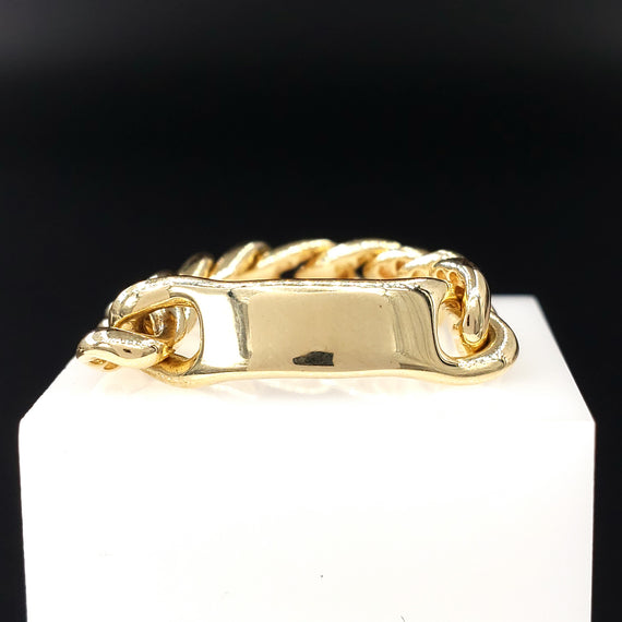 14kt Yellow Gold Chain Link Ring Size:4.5 - Fine Jewelry - Stackable