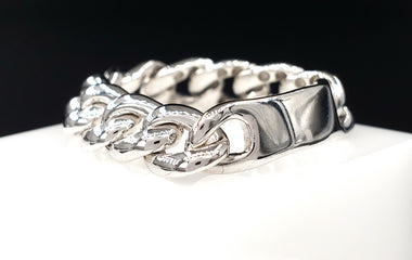 14kt White Gold Chain Link Ring Size: 6.5 - Fine Jewelry - Stackable