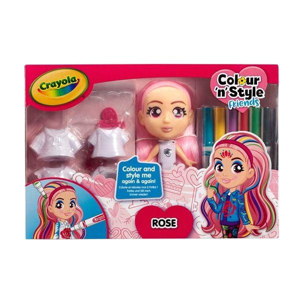 Crayola Colour n Style Dolls Deluxe - Rose-1