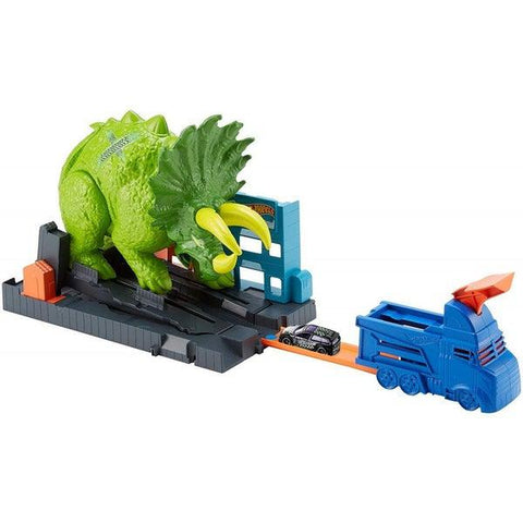 Hot Wheels City Triceratops zúzó pályaszett-1
