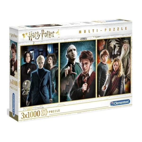 Harry Potter 3x1000 db-os multi puzzle - Clementoni-1