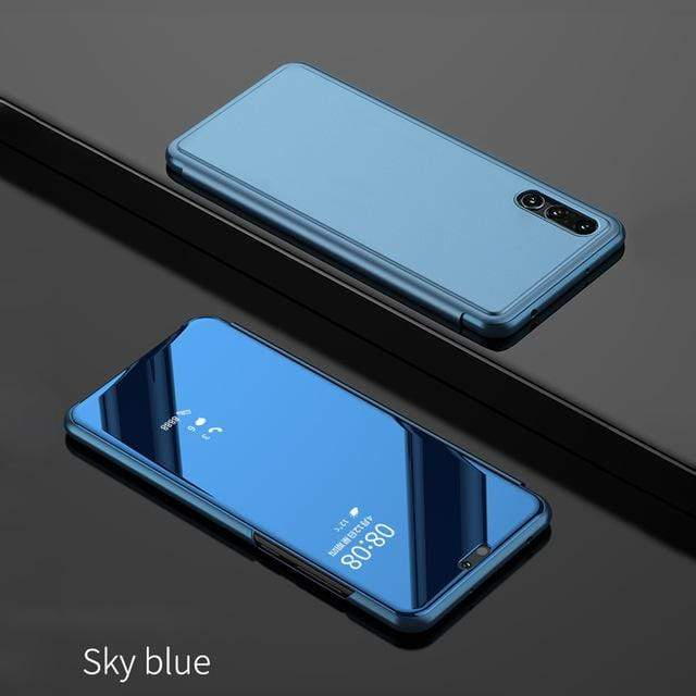 New 2019 Luxury Flip Protection Full Screen Window Cases For Samsung Galaxy A10/A20/A30/A40/A50/A70