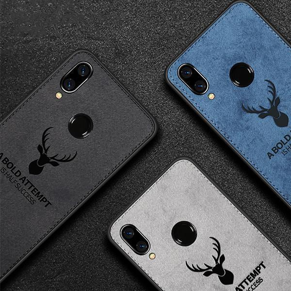 Exquisite Fabric Deer Head Protective Phone Case for Huawei Mate 9 / Mate 10 / Mate 9 Pro / Mate 10 Pro