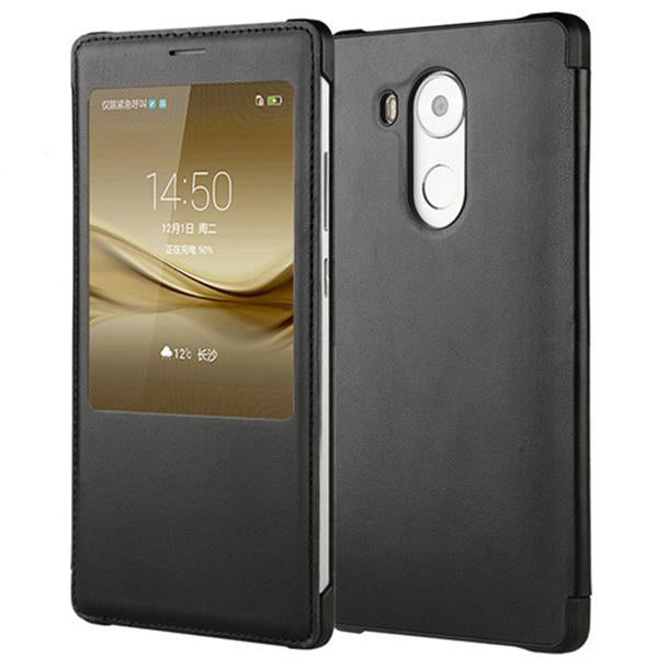 Genuine Leather Smart Window Phone Case for Huawei Mate 8