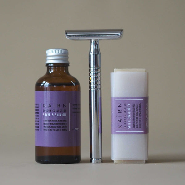 Fragrance free shaving set