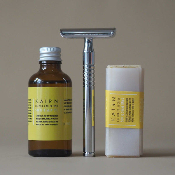 Natural shaving set