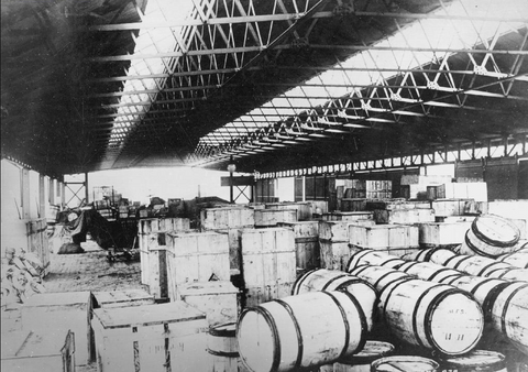 Rum in shed at Salford Docks