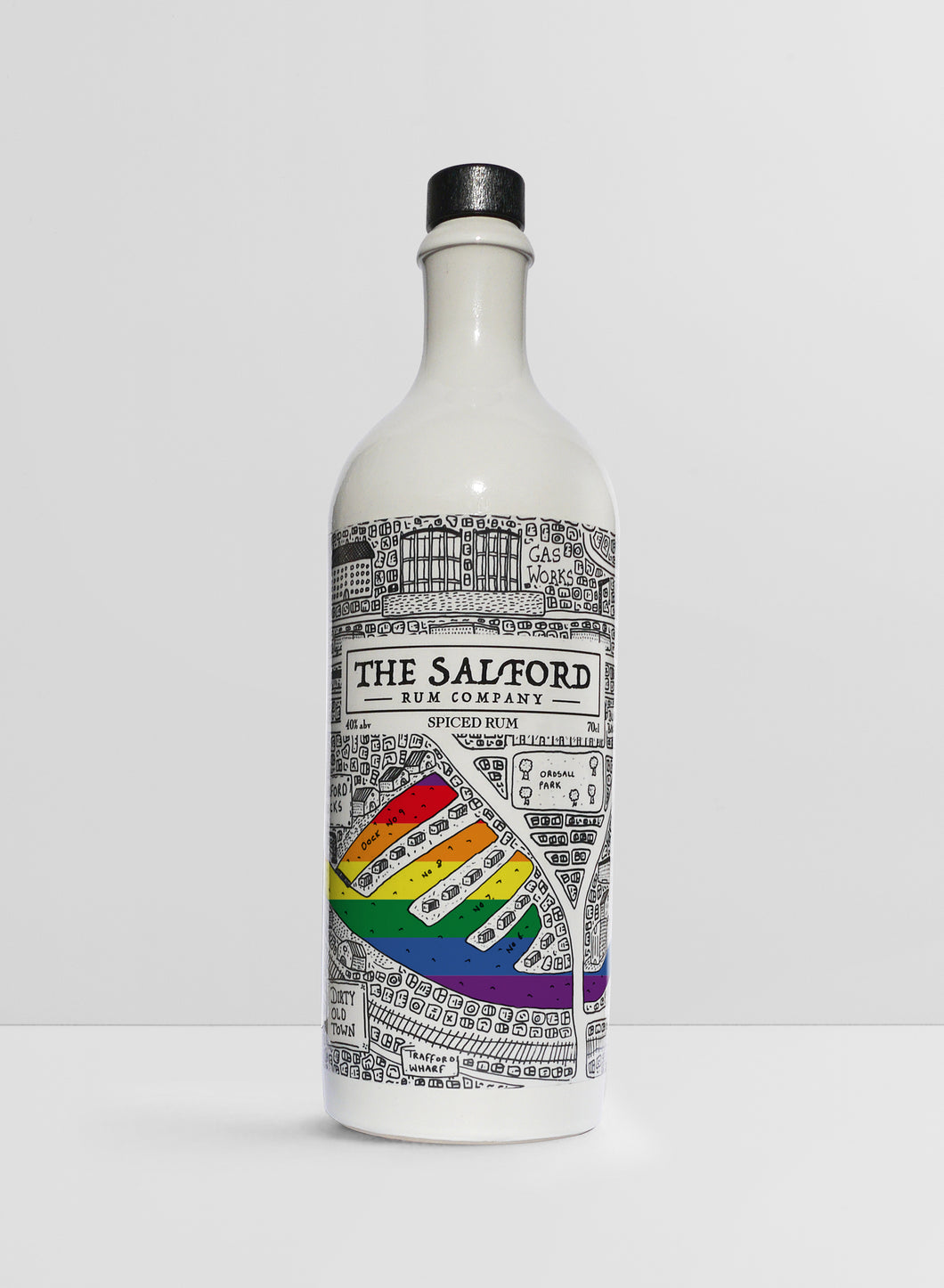 Salford Pride X Salford Rum Collectors Edition Bottle