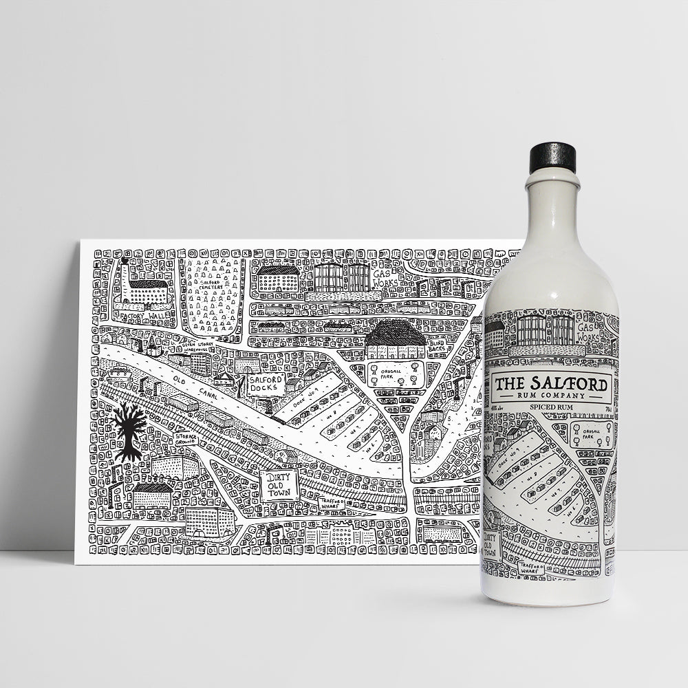 Salford Spiced Rum & Print Bundle