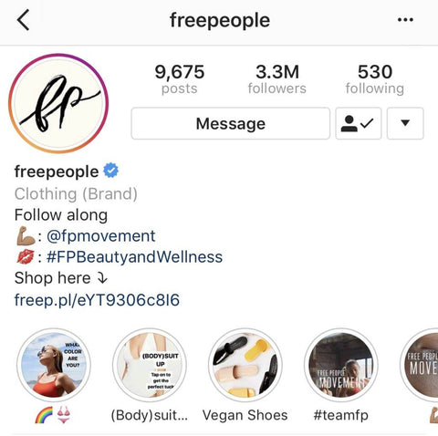 Freepeople Call-To-Action Placement