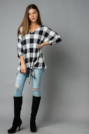 Buffalo Plaid Top-Plus